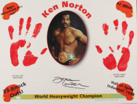 Ken Norton Signed 17x22 Lithograph with Original Handprints (SOP COA) at PristineAuction.com