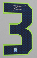 Russell Wilson Signed Seahawks 35x43 Custom Framed Jersey (Wilson COA) at PristineAuction.com
