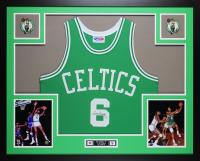 Bill Russell Signed Celtics 35x43 Custom Framed Jersey (JSA COA) at PristineAuction.com
