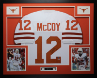 Colt McCoy Signed 35x43 Custom Framed Jersey (PSA COA & GTSM Hologram) at PristineAuction.com