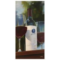 "Thomas Stiltz Signed ""Harvest Tasting"" 30x15 Original Painting on Canvas at PristineAuction.com"