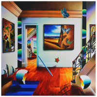 "Ferjo Signed ""A Certain Level of Serenity"" 24x24 Original Painting on Canvas at PristineAuction.com"