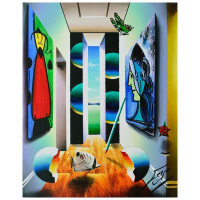 "Ferjo Signed ""Hallway to Garden Wanderers"" 20x16 Original Painting on Canvas at PristineAuction.com"