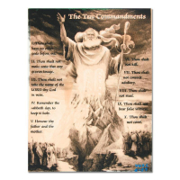 """Ringo Signed """"Ten Commandments"""" 12x16 One-of-a-Kind Hand Pulled Silkscreen & Mixed Media on Canvas at PristineAuction.com"""