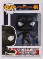 "Tom Holland Signed ""Spider-Man: Far From Home"" Spider-Man (Stealth Suit) #469 Funko Pop! Vinyl Figure (JSA COA) at PristineAuction.com"
