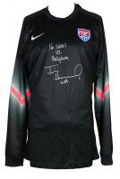 "Tim Howard Signed Team USA Nike Soccer Jersey Inscribed ""16 Saves VS Belgium"" & ""USA"" (JSA COA & Howard Hologram) at PristineAuction.com"