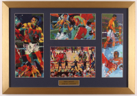 "Leroy Neiman Muhammad Ali ""June 1921 - June 2012"" 17x22 Custom Framed Multi-Print Display with (4) Individual Prints at PristineAuction.com"