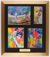 "Leroy Neiman ""Scenes Of Los Angeles"" 18x20.5 Custom Framed Multi-Print Display with (4) individual Prints including Fernando Valenzuela, Kareem Abdul-Jabbar, Marilyn Monroe & Coliseum at PristineAuction.com"