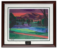 "William 'Bill' Lopa Signed LE '17th Golf Hole' 33x39 Custom Framed Lithograph Display Inscribed ""2010"" (PA LOA) at PristineAuction.com"