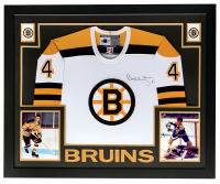 Bobby Orr Signed 31x36 Custom Framed Bruins CMM Jersey (Great North Road Marketing COA) at PristineAuction.com