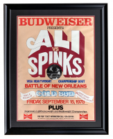 Muhammad Ali vs. Leon Spinks 23x30 Custom Framed 1978 Budweiser Fight Poster at PristineAuction.com