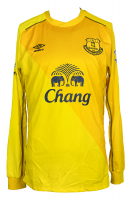 "Tim Howard Signed Everton Umbro Jersey Inscribed ""EFI"" (JSA COA) at PristineAuction.com"