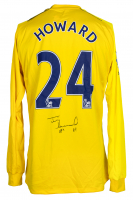 "Tim Howard Signed Everton Umbro Jersey Inscribed ""EFI"" (JSA COA & Howard Hologram) at PristineAuction.com"
