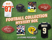 Schwartz Sports Football Collection Mystery Box - Series 8 (Limited to 75) (4 Autograph Items Per Box) at PristineAuction.com