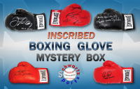 Schwartz Sports Boxing Superstar Signed & INSCRIBED Boxing Glove Mystery Box - Series 4 (Limited to 50) at PristineAuction.com