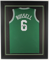 Bill Russell Signed 35x43 Custom Framed Jersey Display (PSA COA) (Imperfect) at PristineAuction.com