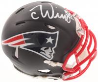 Chase Winovich Signed Patriots Matte Black Speed Mini Helmet (JSA COA) at PristineAuction.com