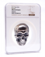 2017 Palau Silver 1/2 Kilo (16.06 oz.) $25 Big Skull with Antique Finish - 48/555 (NGC MS67) at PristineAuction.com