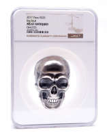 2017 Palau Silver 1/2 Kilo (16.06 oz.) $25 Big Skull with Antique Finish - 44/555 (NGC MS67) at PristineAuction.com