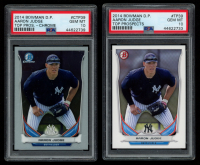 Lot of (2) PSA Graded 10 Aaron Judge 2014 Bowman Chrome Draft Top Prospects #CTP39 & 2014 Bowman Draft Top Prospects #TP39 at PristineAuction.com