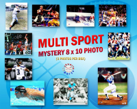 Schwartz Sports Multi Sports Signed Triple 8x10 Photo Collection Mystery Box – Series 5 (3 Autographed 8x10 Photos Per Box) - *Multiple 16x20 Redemptions* at PristineAuction.com