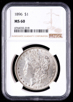 1896 Morgan Silver Dollar (NGC MS60) at PristineAuction.com