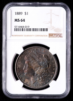 1889 Morgan Silver Dollar (NGC MS64) (Toned) at PristineAuction.com