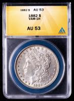 1882 Morgan Silver Dollar, VAM-1H (ANACS AU53) at PristineAuction.com