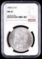 1885-O Morgan Silver Dollar (NGC MS61) at PristineAuction.com