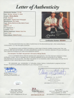 """Mickey Mantle & Billy Martin Signed Yankees 36x44 Custom Framed Display Inscribed """"Our Best"""" (JSA LOA & PSA LOA) at PristineAuction.com"""