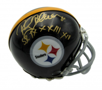 "Rocky Bleier Signed Steelers Mini Helmet Inscribed ""SB IX X XIII XIV"" (Beckett COA) at PristineAuction.com"