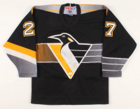 Mario Lemieux & Bill Cowher Signed Penguins Jersey (JSA COA) at PristineAuction.com
