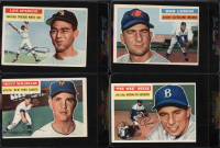 1956 Topps Complete Set of (340) Baseball Cards with Pee Wee Reese #260, Luis Aparicio #292 RC, Billy Martin #181, Whitey Ford #240, Bob Feller #200 at PristineAuction.com