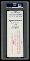 1980 Olympic Hockey Gold Metal Game Authentic Ticket (PSA Encapsulated) at PristineAuction.com