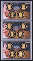 Lot of (3) 2007 United States Mint Presidential $1 Dollar Coin Proof Sets with Washington, Adams, Jefferson, & Madison at PristineAuction.com