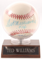"Ted Williams Signed LE OAL Baseball with Display Case Inscribed "".406"" (UDA COA) at PristineAuction.com"