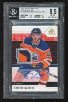 Connor McDavid 2018-19 SP Game Used Red Spectrum #1 GLV AU (BGS 8.5) at PristineAuction.com
