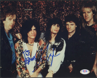 Aerosmith 8x10 Photo Band-Signed by (5) with Steve Tyler, Brad Whitford, Tom Hamilton, Joey Kramer & Joe Perry (PSA Hologram) at PristineAuction.com