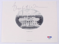 Elizabeth Warren Signed 6x8 White House Print (PSA Hologram) at PristineAuction.com