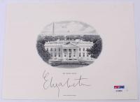 Elizabeth Warren Signed 6x8 White House Print (PSA Hologram) at PristineAuction.com
