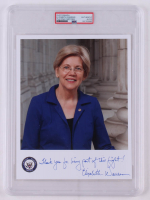 "Elizabeth Warren Signed 8x10 Photo Inscribed ""Thank You For Being Part of This Light!"" (PSA Encapsulated) at PristineAuction.com"