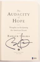 "Barack Obama Signed ""The Audacity of Hope"" Hard-Cover Book (Beckett LOA) at PristineAuction.com"