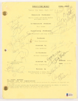 """Who's The Boss?"" Episode Script Cast-Signed by (9) with Tony Danza, Judith Light, Alyssa Milano, Danny Pintauro, Katherine Helmond (Beckett LOA) at PristineAuction.com"