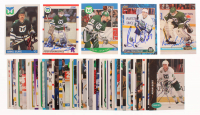 Lot of (50) Hartford Whalers Signed Hockey Cards with Peter Sidorkiewicz 1991-92 Stadium Club #125, Bryan Marchment 1993-94 Score #577, Grant Jennings 1990-91 Pro Set #106 RC, Peter Sidorkiewicz 1990-91 Score #46 (YSMS LOA) at PristineAuction.com