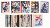 Lot of (50) Hartford Whalers Signed Hockey Cards with Patrick Poulin 1993-94 Score #202, Jason McBain 1996-97 Upper Deck #189, Zarley Zalapski 1993-94 Pinnacle All-Stars #2, Kevin Smyth 1992 Classic #24 at PristineAuction.com