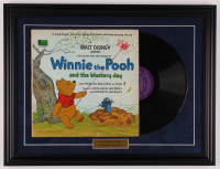 "Original Vintage Walt Disney's ""Winnie the Pooh and the Blustery Day"" 18.5x24.5 Custom Framed Vinyl Record Album Display at PristineAuction.com"