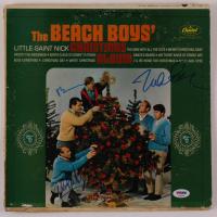 "Al Jardine, Mike Love & Brian Wilson Signed ""The Beach Boys' Christmas Album"" Vinyl Record Album Cover (PSA LOA) at PristineAuction.com"
