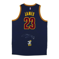 "LeBron James Signed Cavaliers ""3x MVP"" Patch Jersey (UDA COA) at PristineAuction.com"