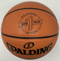 Deandre Ayton Spalding 2018 #1 Pick Custom Engraved Basketball at PristineAuction.com