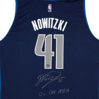 "Dirk Nowitzki Signed Mavericks LE Jersey Inscribed ""12x All NBA"" (UDA COA) at PristineAuction.com"